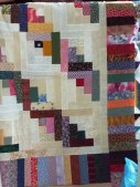 Half log cabin squares - I love log cabin