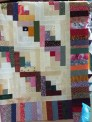 Half log cabin squares - I love log cabin