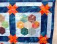 Tessa's Hexagon quilt - close up