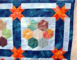 Tessa's Hexagon quilt - close up