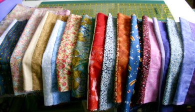 Strips joined ready to make into bags