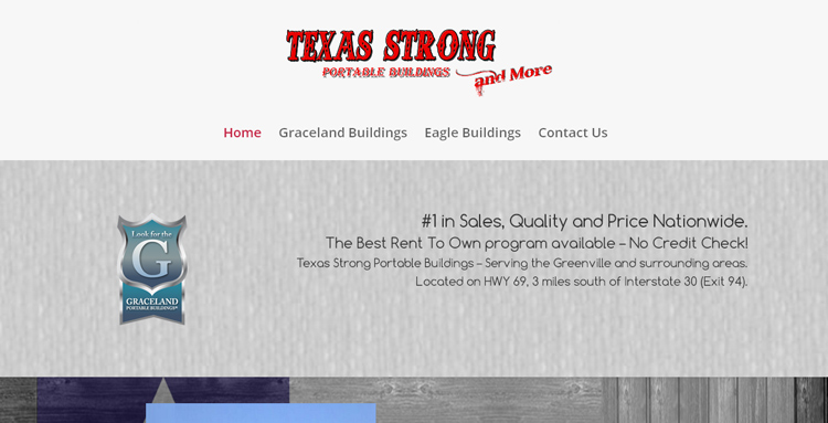 Texas Strong Portable Buildings home page