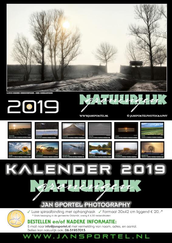 Flyer kalender Natuurlijk Groningen