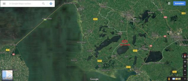 Kartenausschnitt Friesland