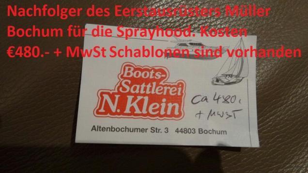 Sprayhoodherstreller NAchfolger von Müller Bochum