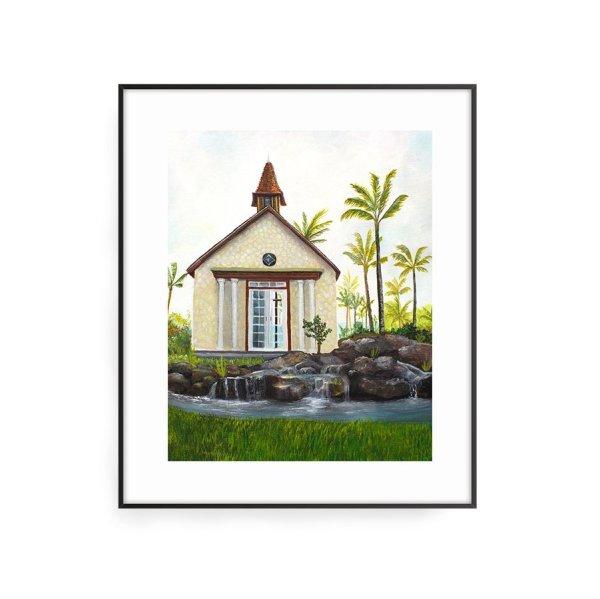 Going the chapel art print by Jan Tetsutani