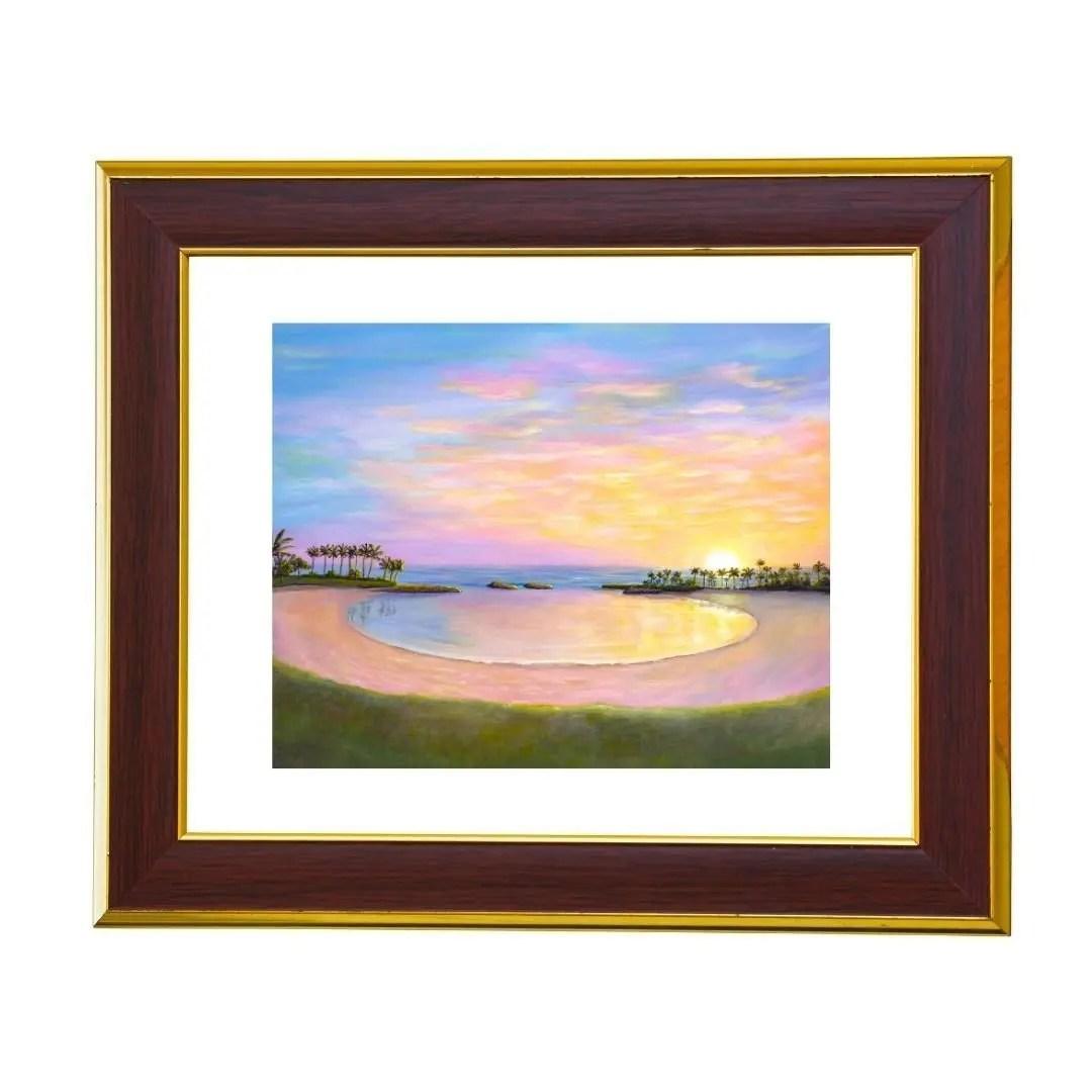 koolina sunset painting by jan tetsutani art