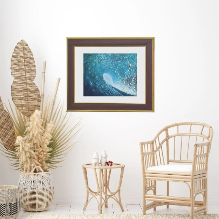 ocean wave wall art print by jan tetsutani