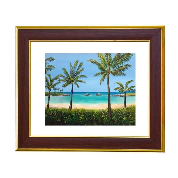 vacation to hawaii at kohola lagoon jan tetsutani art print