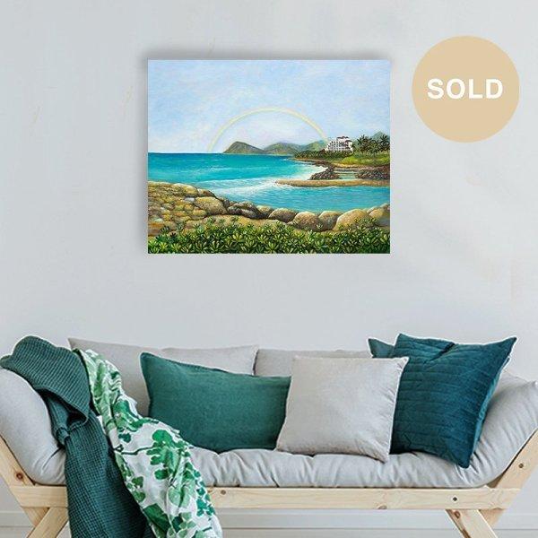 Ko Olina Original Painting titled 'An Unforgettable Experience' by Hawaii Artist Jan Tetsutani