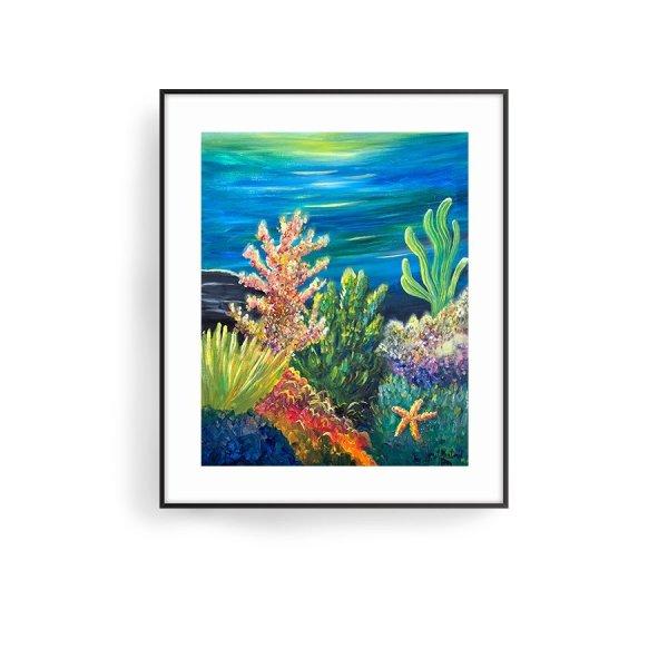 Underwater painting by Jan Tetsutani