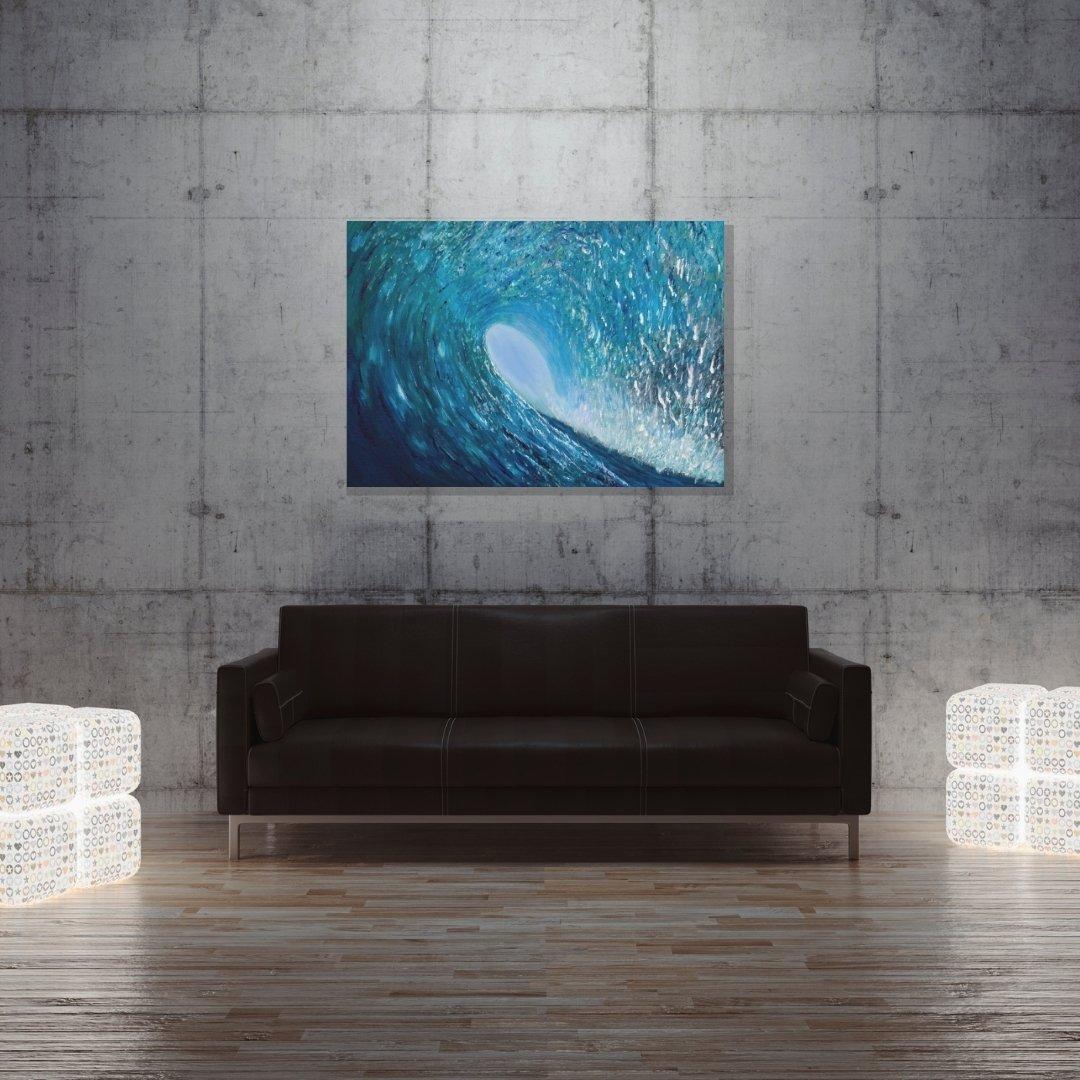 ocean wave wall art by Jan Tetsutani