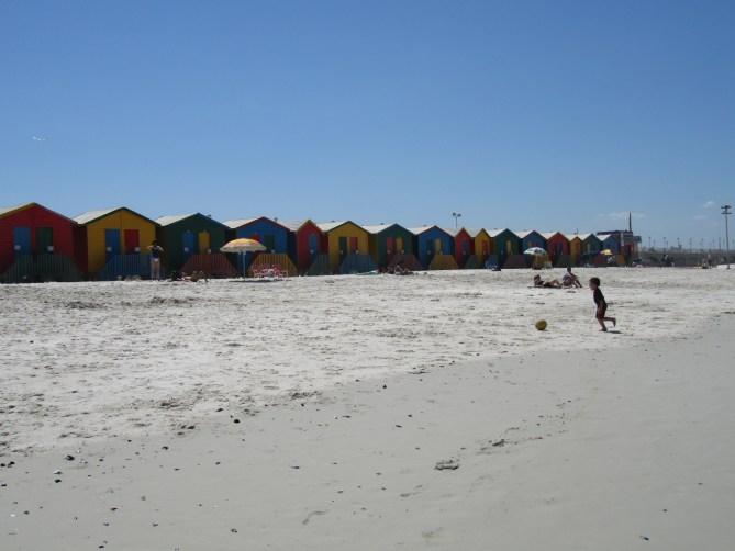 Strand Muizenberg Kaapstad Zuid-Afrika