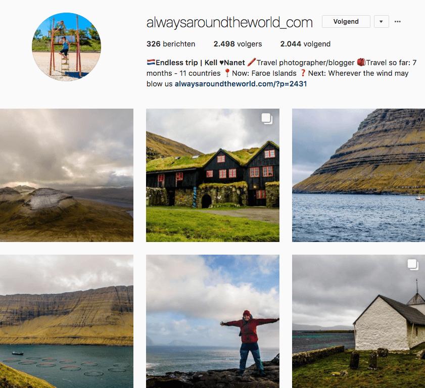 De leukste reizigers op instagram