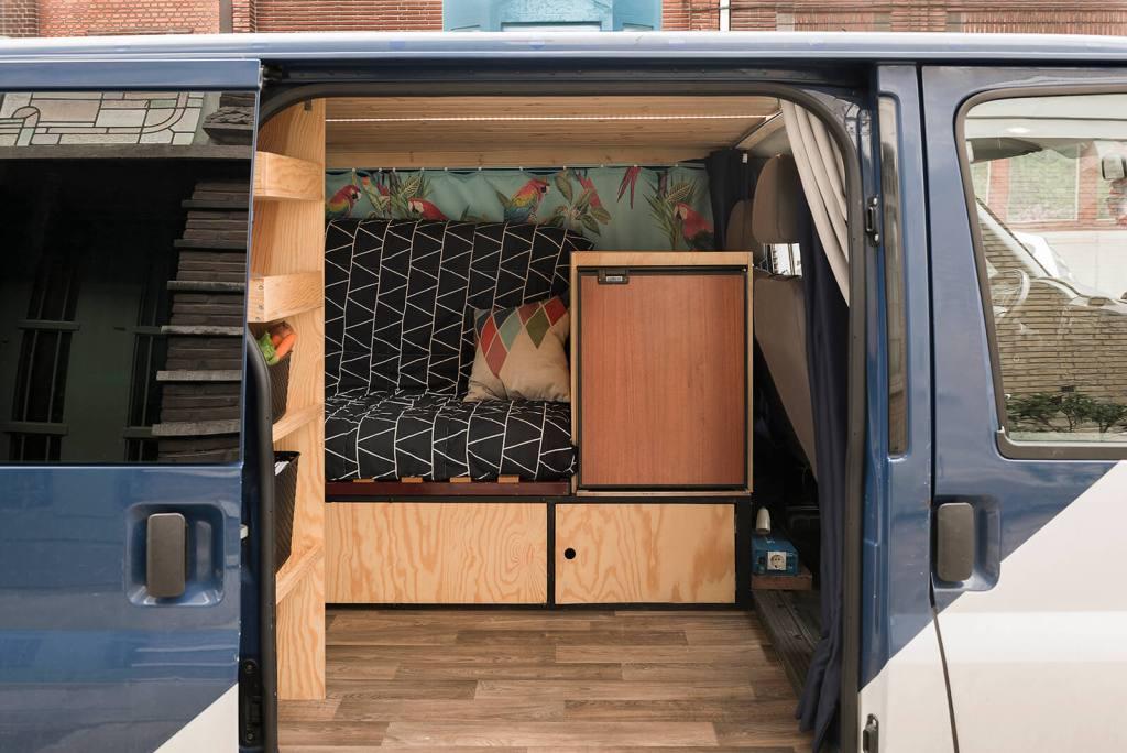 interieur Zelfgebouwde Ford Transit Camper