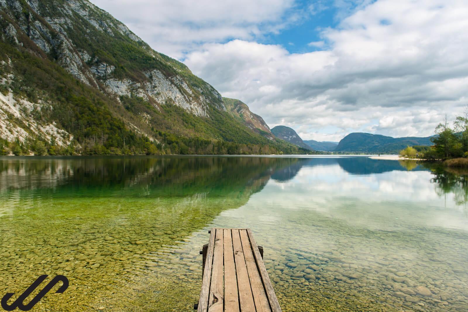 met de camper naar het meer van Bohinj