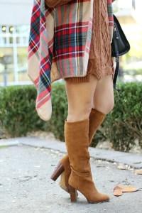 cognac tall boots | January Hart Blog