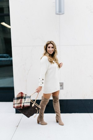 How to Style a Sweater Dress   January Hart Blog