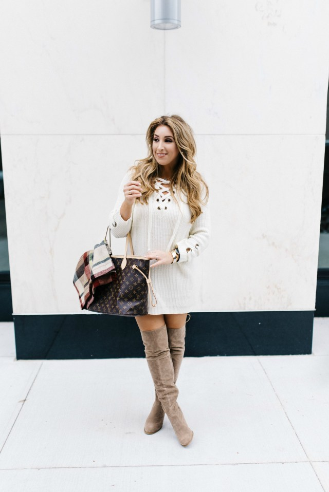taupe over the knee boots | January Hart Blog