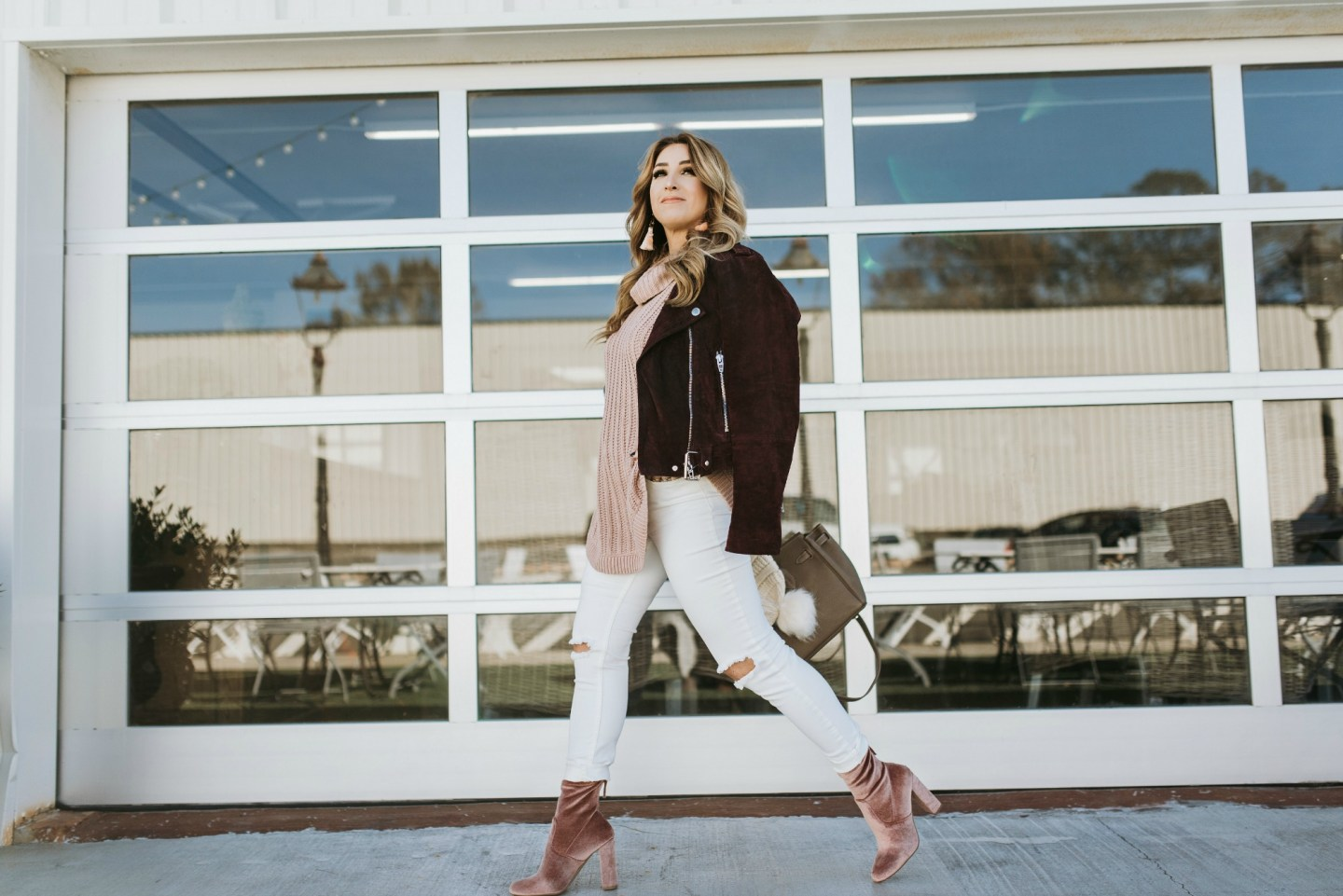 burgundy and pink outfit ideas