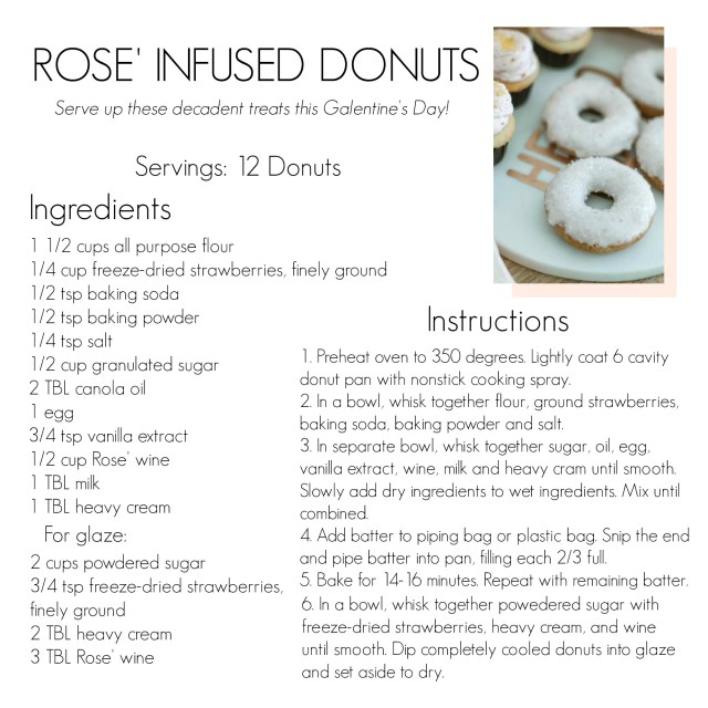 Rose wine infused donuts recipe