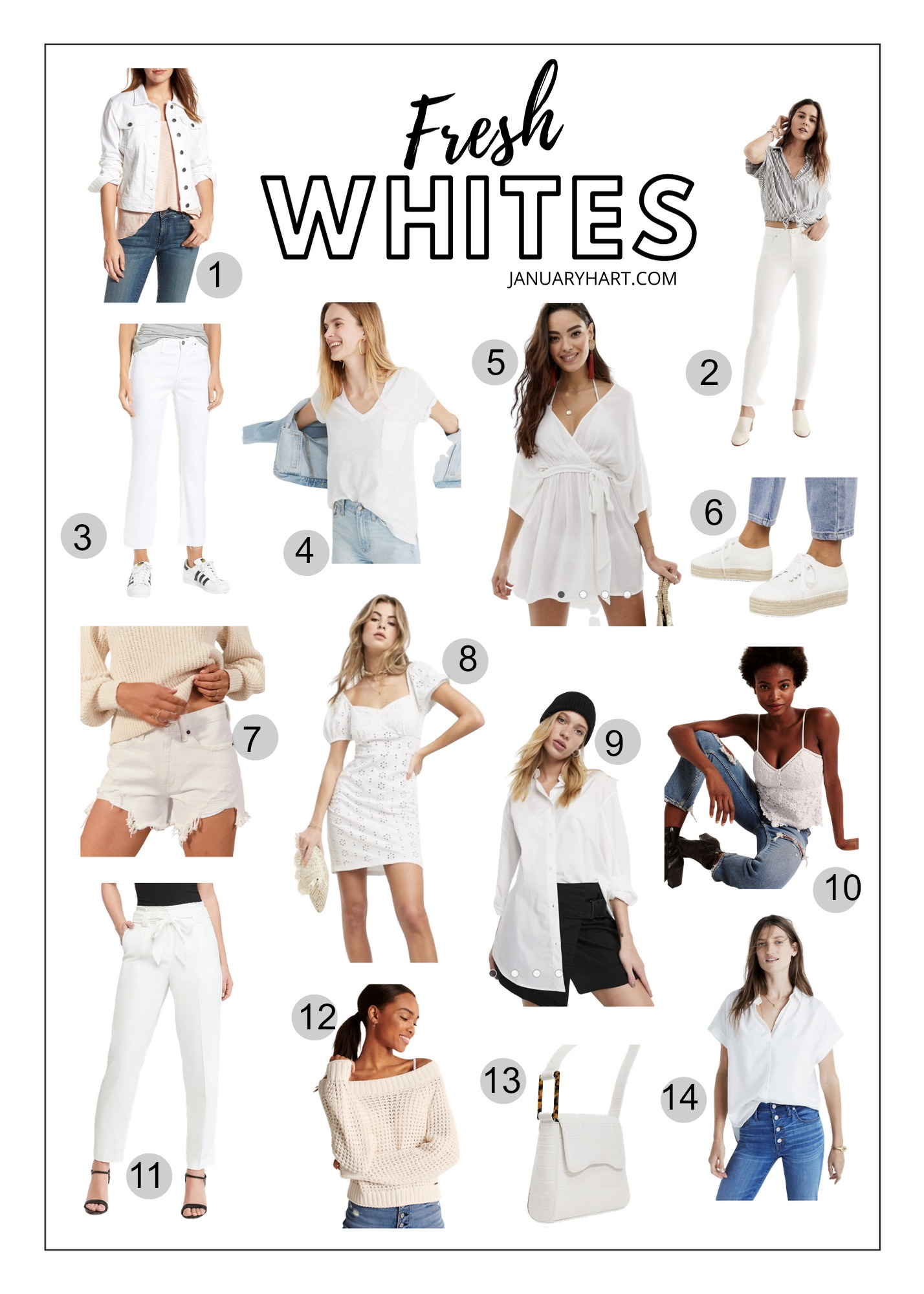 White basics for Spring 2020