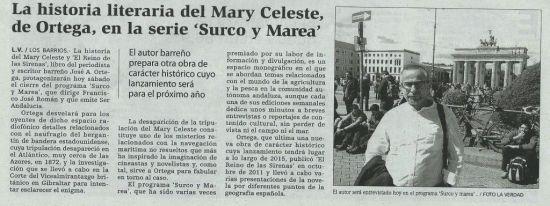 Recorte de prensa con noticia relacionada con J. A. Ortega y El Reino de las Sirenas