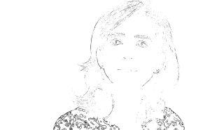 Dibujo de la Infanta doña Cristina de Borbón