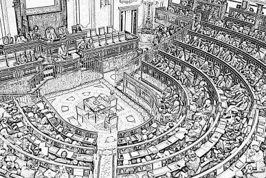 Dibujo del Congreso de los Diputados