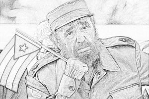 Dibujo de Fidel Castro
