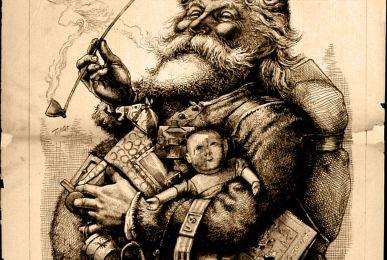 Ilustración antigua de Papá Noel