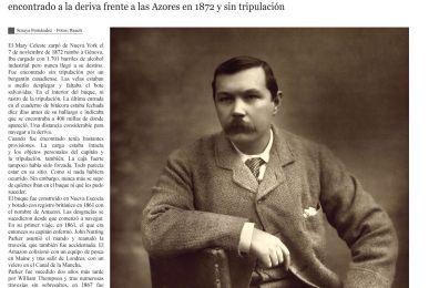 Imagen de la primera de las páginas del reportaje que la revista Reach Extra Alcance dedica al misterio del Mary Celeste.