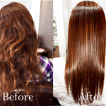 Japanese hair straightening (thermal reconditioning) treatment salon in Tokyo