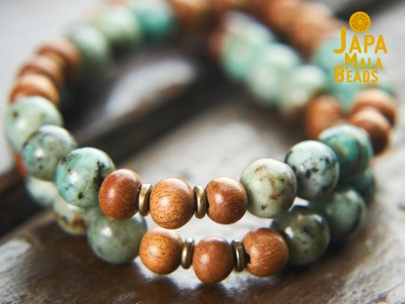 African Turquoise and Meranti Beads