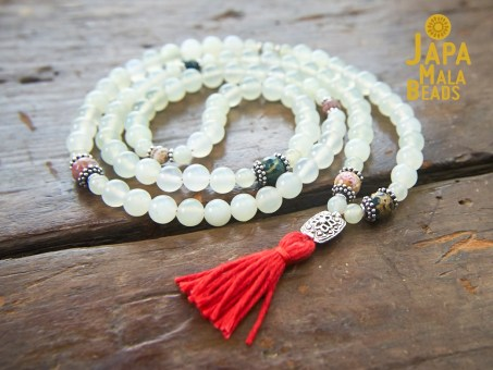 Serpentine and Ocean Jasper 108 Bead Mala