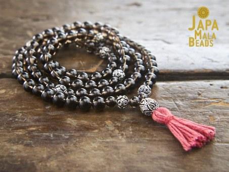 Smoky Quartz Japa Mala Beads