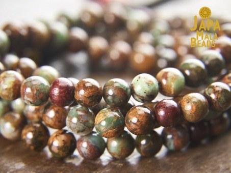 Green Opal & Rosewood Full Mala