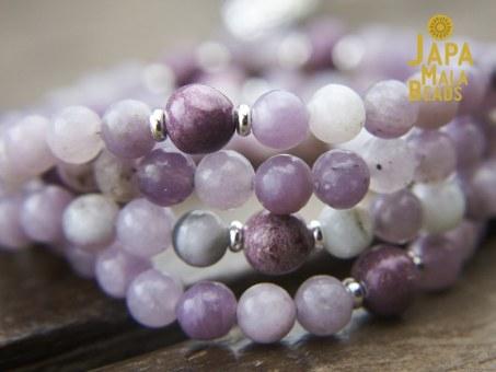 Sugilite and Charoite Mala Beads