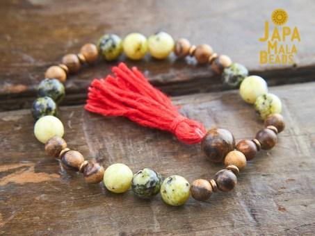 Yellow Turquoise Wrist Mala Beads