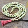 Green Garnet and Agarwood Necklace Mala