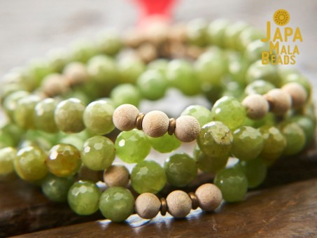 Green Garnet and Silkwood Prayer Beads