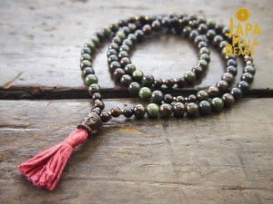 Dragon Blood Jasper and Jujube Full Mala