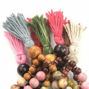 prayer bead tassels