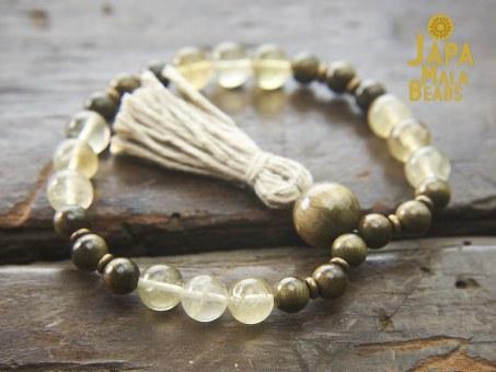Yellow Fluorite Bracelet Mala