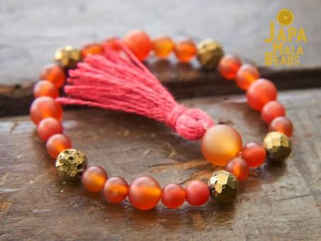 Carnelian Bracelet Mala