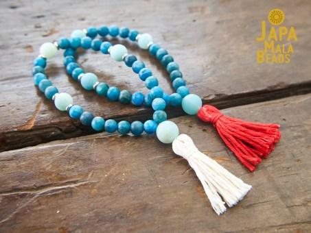 Apatite and Amazonite Mala Beads