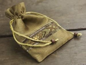 Brocade Border Drawstring Bag