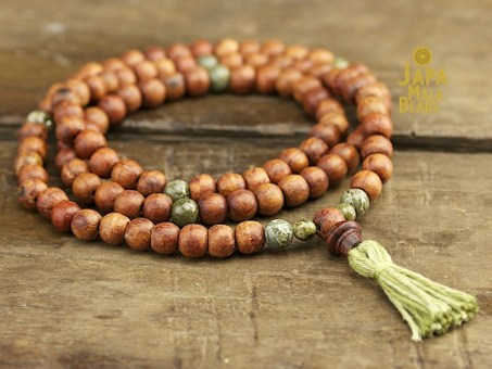 Gemstone & Rosewood Full Mala