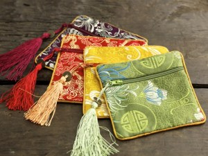 Asian Brocade Coin Bag