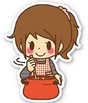 女性_料理_鍋まぜる